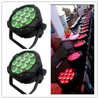 20 pièces pas cher mini lumières de noël 12 * 15w rgbaw 5 en 1 canettes led par 64 étanche led plat par 64 led silencieux par lumière