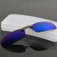 DRESSUUP Clip polarizado en gafas de sol Hombres que conducen Lente de visión nocturna Gafas de sol Hombre Anti-UVA UVB Para Mujer Hombre Oculos