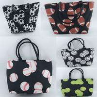 10pcs 2018 New Arrival 32cmx45cm Canvas Baseball Totes Casua...