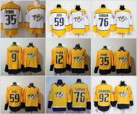 2019 New Nashville Predators 9 Filip Forsberg 12 Mike Fisher 35 Pekka Rinne  59 Roman Josi 92 Ryan Johansen 76 PK Subban Jersey 75ec50e0b