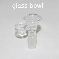 Cacholeras de vidrio transparente de 4 mm de espesor con una junta masculina de 18 mm de 18 mm para la plataforma de aceite de bong