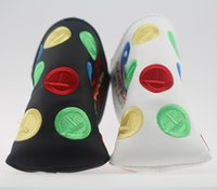 Embroidery Golf Putter Club Headcover PU Leather Colorful Ci...