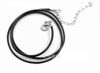 펜던트 가죽 목걸이에 대한 가죽 코드 diy cord jewelry findings 검은 색 빨간색 싼 싼 와이어 45 + 5cm 501