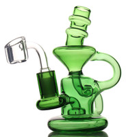 """Mini Recycler Glas Bong Oil Rig Classic Design DAB Rigs Tall 5.2 """"13cm Little Recycler DAB Rig Wasserbongs"""
