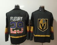 New Vegas Golden Knights Jerseys # 29 Fleury Jersey 2018 New Hockey Jerseys Gris Color Número de bandera Tamaño M-XXXL Mezclar Ordenar todos los jerseys