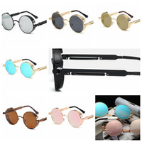 Round polarized sunglasses fashion reflective glasses men wo...