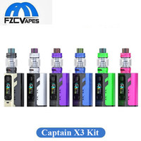 100% d'origine IJoy Captain X3 Kit complet 324W E Cig Vape Kit 9000 mAh avec 8 ml X3 réservoir Triple 20700 Vape Device System