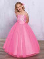 Free Wrap Lovely Pink Straps Tulle Beads Flower Girl Dresses...