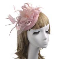 2020 Pena Tulle Mulheres Chapéus para a festa de casamento Especial Ocasião Ladies formais Tulle chapéus das senhoras Acessórios para Atacado