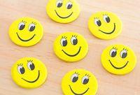 Mini Metal Smiley Smile Face Button Pins