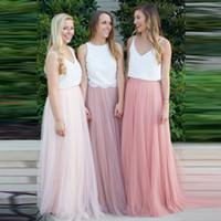 여성 3 레이스 레이스 맥시 롱 스커트 소프트 얇은 명주 그물 치마 웨딩 신부 들러리 스커트 볼 가운 팔다드 saias femininas jupe plus 크기