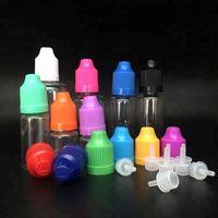 Colorful 3ml 5ml 10ml 15ml 20ml 30ml 50ml PET Bottiglie vuote Bottiglie di plastica con contagocce Bottiglie di succo eliquid e