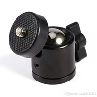 """Черный цвет 360 градусов мини-штатив с шаровой головкой Ballhead 1/4"""" Stand DSLR камеры Аксессуары DV DSLR камеры Винт для монтажа"""