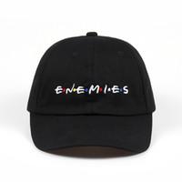 100% Pamuk Nakış ENEMIES Beyzbol Şapkası Baba Şapka Kemik casquette Erkekler Için Şapka Snapback Giyen Caps Özel Şapkalar