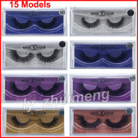 New 3D Mink lashes makeup Eyelashes 15 Models Thick real min...