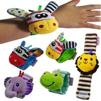 Infant Baby Cartoon Animal Wristband Rattle Kids Hand Band A...
