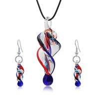 Fansy Murano Glass Tornado Statement Necklaces &Fashion Earr...