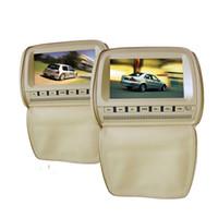 차량 자동차 DVD 비디오 엔터테인먼트 시스템을위한 듀얼 9 인치 리어 머리 받침 DVD 플레이어는 USB의 SD IR FM Transmitte 게임 지퍼 커버를 지원