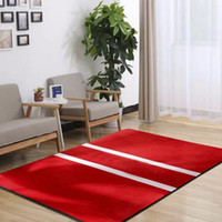 American style red s Large Living Room Carpets non- slip Bedr...