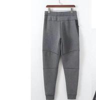 2018 Outono Novas Calças Paris Moda Com Carta Costura Impressão Masculina Calças Casuais Esportes Calças Jogging Atacado