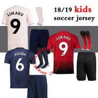 kids kit + socks 18 19 LUKAKU Manchester United soccer jerse...