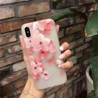 Para el caso del iPhone X, Slim Bumper Cartoon flores Patrón 3D Relief en relieve pintura TPU Hard Case para Apple iPhone X