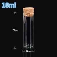 bong glass jar 22*70mm 18ml Empty Glass Transparent Clear Bo...