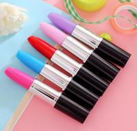 mélanger les couleurs Stylo à bille rouge à lèvres Papeterie créative Prix étudiant Beau modele réaliste Baume à lèvres stylo à bille 210pcs