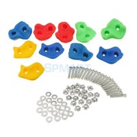 10 Pieces Rock Climbing Wall Stones Hand Feet Holds Grip Kit...