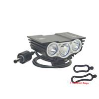 SolarStorm X3 T6 capo accende la luce della bici 6000 lm XM-L 3T6 LED 4 modalità di biciclette Luce frontale luce