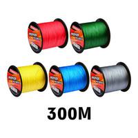 300M 초강력 일본 PE 땋은 낚시 줄 5colors 10lb ~ 100lb 4 가닥 Braid Spectra Line 색상을위한 메시지 남기기