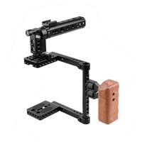 Poignée en bois CAMVATE DSLR pour appareil photo, poignée en bois pour Canon 600D 70D 80D