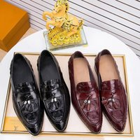 Shoes Men Real Leather Moccasin Crocodile Style Footwear Fla...