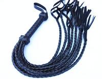 bdsm fetiş kırbaç eşek şaplak kamçı flogger vücut işkence topper seks oyuncakları esaret dişli suni deri siyah GNWP.04047-B