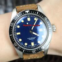 3 Stil En watche Dalgıçlar Altmış beş ETA2824 Otomatik Erkek İzle 01 733 7720 4055-07 5 21 02 Mavi Dial Kahverengi Deri Kayış Gents Saatler