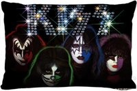 Custom kiss band Rectangle Pillow Cover Size 45x35cm (one si...