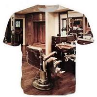이발사 레트로 3D 웃긴 티셔츠 새로운 패션 남자 / 여자 3D 프린트 캐릭터 티셔츠 티셔츠 여성 섹시한 티셔츠 티셔츠 의류 ya88