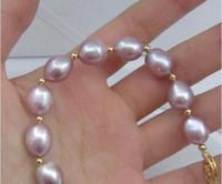 11x10mm Naturals South Sea Pulsera de perla púrpura genuina 14K Cierre de oro