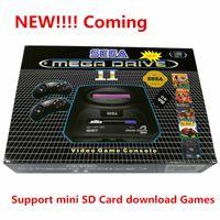 Para la versión SEGA PAL Consola de juegos en 9 juegos Soporte Mini tarjeta SD de 8 GB Descarga de juegos Videoconsola MD2 TV Consola de video de 16 bits