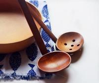 Nueva cuchara de sopa de tortuga de madera de mesa cuchara Ramen de madera de Japón cuchara de madera larga de mango caliente Práctico y duradero