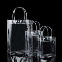 Trasparente borsa da spiaggia a tracolla di plastica borse delle donne di tendenza del Tote della gelatina di modo in PVC trasparente shopping bag Sacchetti per Grocery Tote