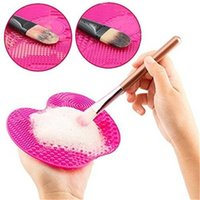 Makeup Brushes Cleaning Mat Silicone Cleaner Pad Cosmetic Br...