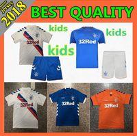 2018 Glasgow Rangers Soccer Jersey Home Away kit infantil 1819 Morelos  Windass Dorrans Candeias Tavernier Tercera cd90137bf88ea