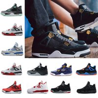 2018 4 4s Mens Basketball Shoes Motosports Blue Fire Red Whi...
