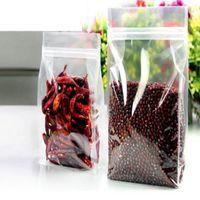6 größe PER organ verpackungsbeutel hohe transparente freizeit lebensmittel verpackung ventilbeutel snack tasche aufstehen beutel