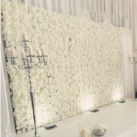 Nueva Llegada Artificial Hydrangea Peonía Rose Mix Flower Wall Wedding Backdrop Pilar Road Lead Decoration Supplies 20 unids / lote