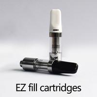 EZ fill vape Cartridge Ceramic Coil 11mm Diametro 0,5ml Top Ricarica Bombola monouso con Regolabile Top Airflow vs Liberty V9 0266212-1