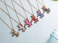 2019 hot style cute fashion simple animal necklace colorful ...