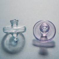Gratuit DHL en verre de couleur Carb Cap pour l'huile Rigs Dab Bongs Banger 2 mm d'épaisseur en verre Carb Caps verre Accessoires fumeurs DCC03