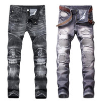 2018 high quality jeans Men' s fashion to pop tight trou...